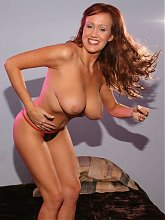Bailey O Dare naked and working a cock with her mouth before she rides it on top